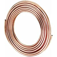 MUELLER REF-1/2 Refrigeration Soft Coil Tubing, 1/2 in, 50 Ft L, 0.032 in Wall Thickness, Copper