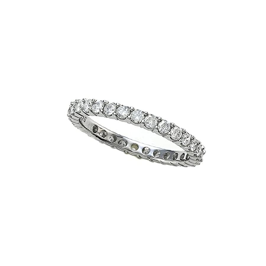 Finejewelers Round Diamonds Eternity Band IGI Certified (0.95 cttw, H I Color, I1 I2 Clarity) 14kt Gold