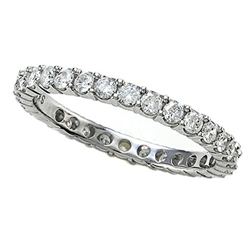 Round Diamonds Eternity Band IGI Certified (0.95 cttw, H I Color, I1 I2 Clarity) 14kt Gold