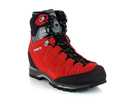 Stivali Dolomite Torq Gtx S Per Gli Uomini Alpini Di Gore-tex Grigio Rosso Fuoco