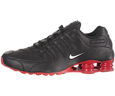 Nike Shox NZ Mens Running Shoes [378341-000] Black/White/Red Mens Shoes 378341-000-11.5