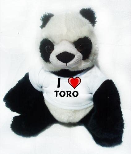 Panda de peluche (juguete) con Amo Toro en la camiseta (nombre de pila/apellido/apodo): Amazon.es: Juguetes y juegos