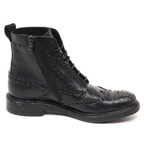 HUNDRED 100 E0432 Stivaletto Donna Nero Borchie Boot Shoe Woman Nero