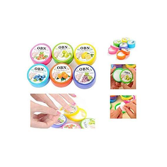Ella Multi Fruit Flavored Nail Polish Remover Wipes Round Tissues -6 Box (192)