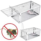 SLB Works Brand New One Door Animal Trap Steel Cage for Small Live Rodent Control Rat Mice