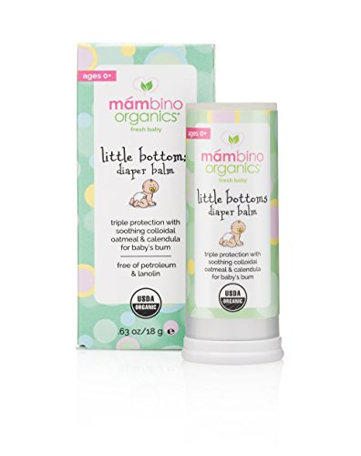 Mambino Organics Little Bottoms Diaper Area Wash, Cucumber + Chamomile 50 ml (Travel Size)