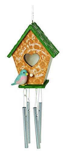 Precious Moments, Decorative Birdhouse Wind Chime, Home Décor 154455 by Precious Moments