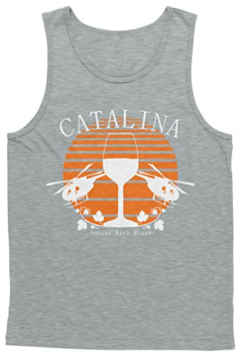 Blittzen Mens Tank Catalina Annual Wine Mixer, L, Light -