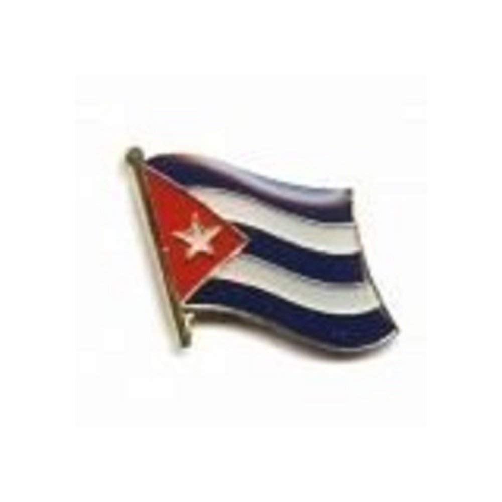 Cuba Country Flag Small Metal Lapel Pin Badge .. 3/4 X 3/4 Inches ... New