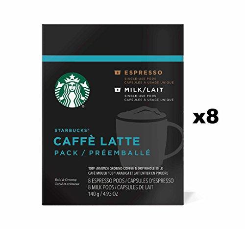 Starbucks Caffe Latte Verismo Pods (128 Pods, 64 Servings) by Starbucks