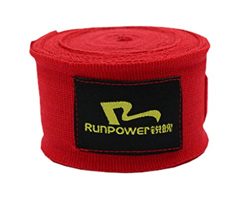 Black Temptation Professional Boxing Elastic Bandage Strength Boxing Wraps Hand Wraps Red A Pair (Best Boxing Hand Wraps Uk)