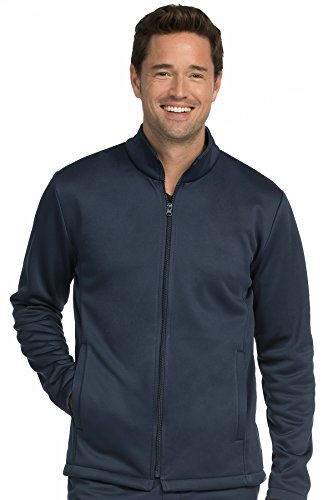 Med Couture Men's Bonded Fleece Jacket, Navy, Medium (Bonded Fleece Outerwear)