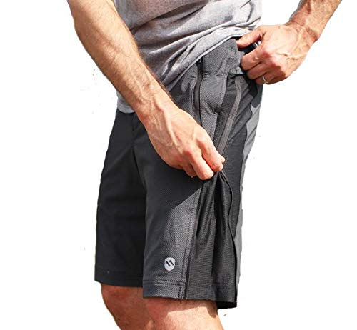 ELEVENPINE 11 Pine Men's Crank it Up Cycling Convertible from Tight to Casual Shorts (Black, Medium)