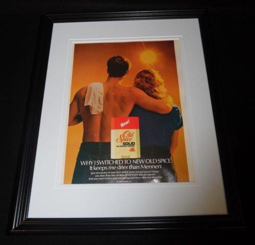 1985-old-spice-solid-deodorant-framed-11x14-original-vintage-advertisement-c