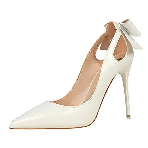 27df56c8 Tacones Altos De Mujer Charol Moda Sexy Boca Baja Puntiaguda Tacón De Aguja  Sandalias Zapatos De