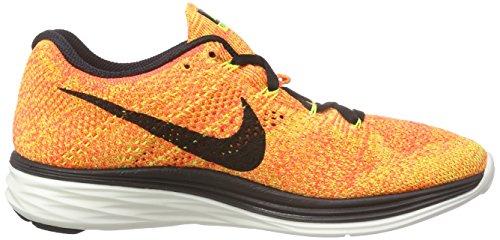 Nike Womens Flyknit Lunar3 Sneakers 698182 Sneakers Schoenen (us 9.5, Volt Black Bright Crimson 700)