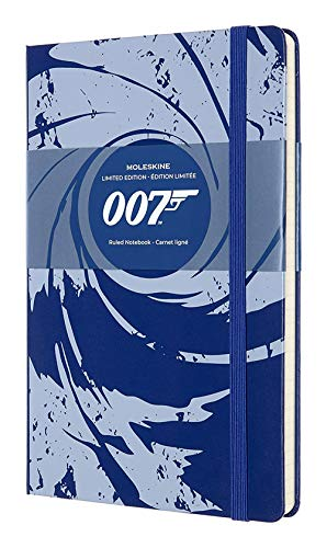 """Moleskine Limited Edition James Bond Notebook, Hard Cover, Large (5"""" x 8.25"""") Ruled/Lined, Black, 240 Pages"""
