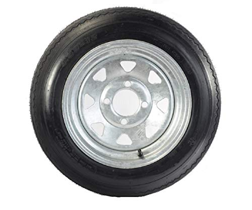 12 x 4 Galvanized Steel Spoke Trailer Wheel 4 Lug w/ 4.80-12 Trailer Tire LR C Package