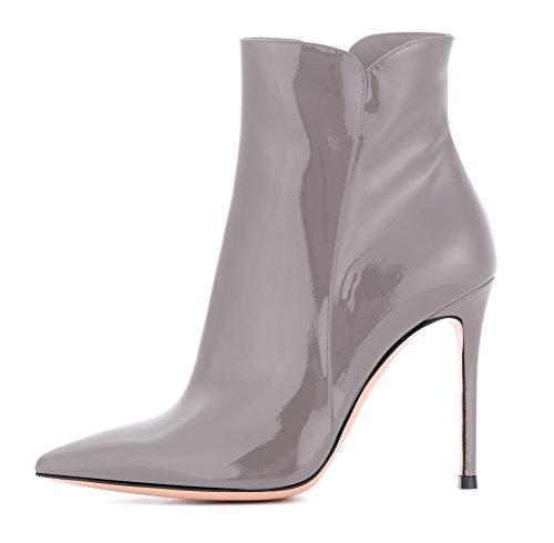 Tacco Stivali Scarpe Da Inverno Grigio Moda Edefs Donna Con Alto Caviglia q6axSw
