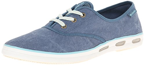 Columbia Vulc N Vent Lace Canvas, Baskets Basses Femme Bleu - Blau (Blue Heron, Candy Mint 407)