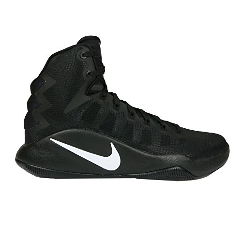 Nike Men's Hyperdunk 2016 Basketball Shoes, Blanco (Blanco (Black/White)), 11