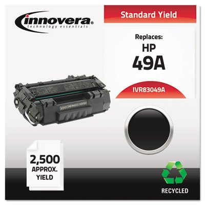Innovera 83049A Compatible, Remanufactured, Q5949A (49A) Laser Toner, 2500 Yield, Black ()