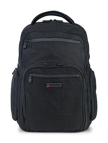 ECBC Hercules — Travel Backpack for a 16'' Laptop Computer: TSA Friendly Quick-Open Laptop Section, Black (K7102-10) by ECBC
