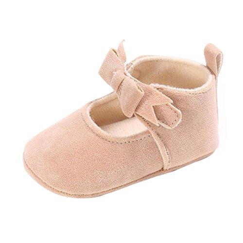 Sandalias de chica, Internet Zapatillas antideslizantes antideslizantes para bebés recién nacidos Beige