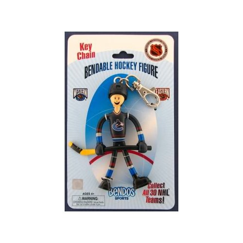 Vancouver Canucks BENDOS bendable figure Keychain NHL Kid Galaxy