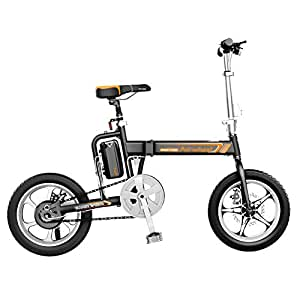 Bicicleta Electrica Fat Bike Plegable Montaña Paseo E-Bike Adulto Triciclo,Black