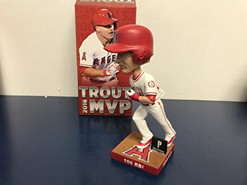 (Mike Trout Los Angeles Angels 2016 TROUT MVP BOBBLE 2 of 3 Bobblehead SGA)