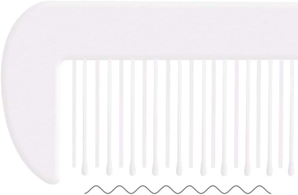 2 pcs Ensemble de Brosse Cheveux B/éb/é Masseur T/ête de Nouveau-n/é B/éb/é Fille Gar/çon Rose Peigne en Plastique PP Brosse a Cheveux en Laine Naturelle- Doux et Portable