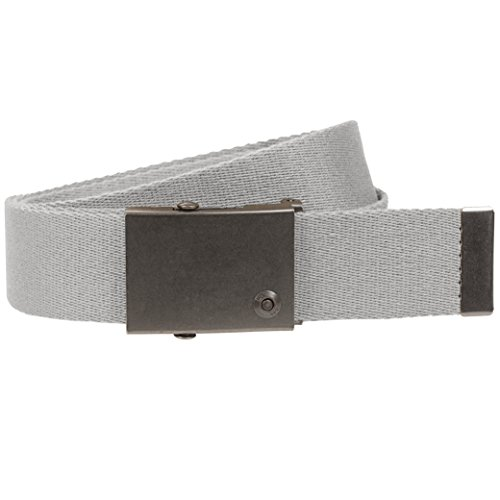 Lee Accessories Men's Signature Single Web Belt, Grey, One Size up to 44'' by Lee Accessories
