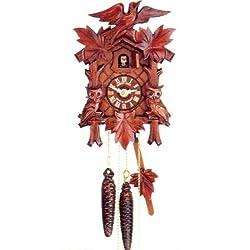 Quartz Movement Cuckoo Clock with Owl and Brilliant Polish 10.5 Inch