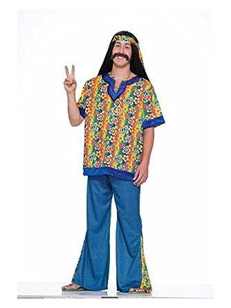 Amazon Com Forum Novelties Mens Plus Size Hippie Dude Costume Clothing