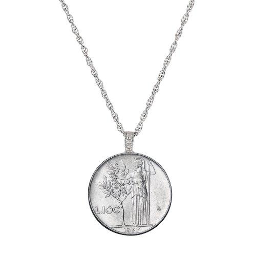 American Coin Treasures Italian Lire Coin Pendant