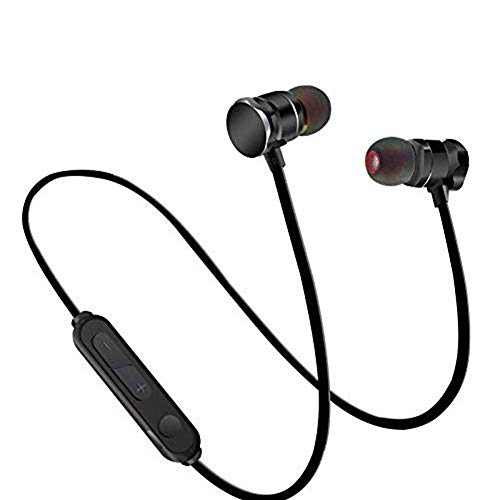 Bluetooth Headphones V5.0, Magnetic Wireless Earbuds with Build-In Mic Sport Sweatproof Earpiece Noise Cancelling Earphones for Workout/Running Compatible with iPhone Samsung Android -