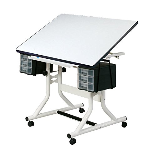 Alvin CM40-4-XB CraftMaster Art, Drawing, and Hobby Table White Base with White Top by Alvin