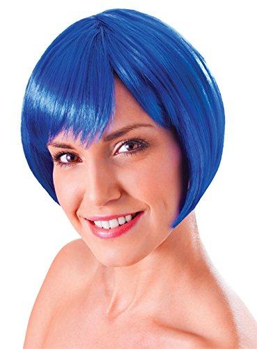 Ladies Womens Flirty Flick Bob Glamour Sexy Blue Fancy Dress Outfit ()