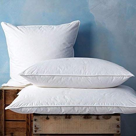 Almohada de plumas de pato, tamaño supergrande, suave/medio ...