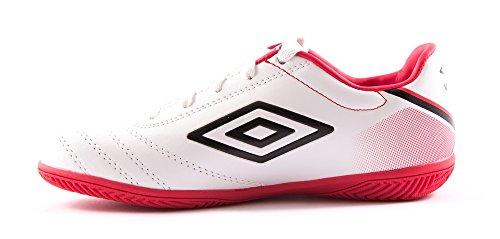 Umbro 81272u-2vz, Zapatillas de Deporte para Mujer blanco / negro / rojo (vermillion)