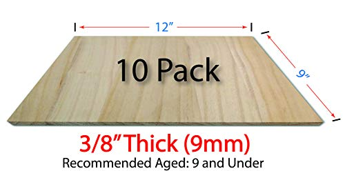 OldBleu Breaking Boards - 10 Pack of 9mm - Solid