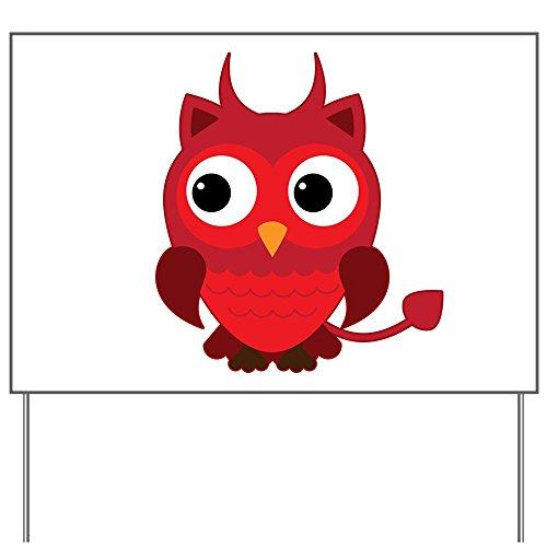 Yard Sign Little Spooky Owl Devil -