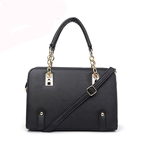 Ryse Womens Fashionable Metal Classic Square Leather Handbag Shoulder - Mall Square Stores Fashion