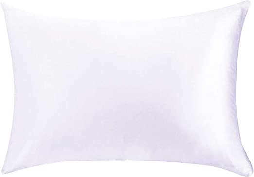 1PC 100/% Pure Satin Silk Soft Pillowcase Solid Colors Luxury Home Accessories