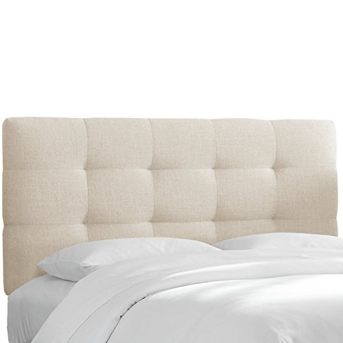 Skyline Furniture California King Tufted Headboard in Linen - Furniture California Bed Skyline