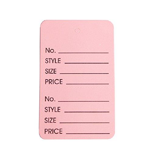 "Metronic International 1000pcs Pink Color Price Coupon Tag Clothing(1 3/4"" X 2 7/8"")"
