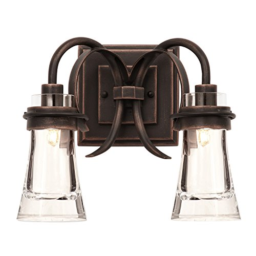 (Kalco 2912AC Dover 2-Light Bath, Antique Copper)