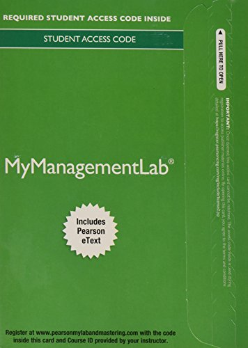 2014 MyLab Management with Pearson eText -- Access Card -- for Human Resource Management