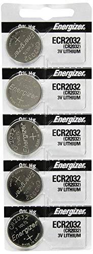 Energizer CR2032 3 Volt Lithium Coin Battery In Original Packaging, 5 Packs (10 Batteries)